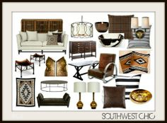 Southwest Chic - Perfect update in AZ if you're tired of Tuscan via http://nyclq-focalpoint.blogspot.com/p/moodboards.html Lynda Quintero-Davids #FocalPointStyling