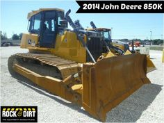 """Our Featured Dozer is a 2014 John Deere 850K, Cab w/ AC, Drawbar, 152"""" Blade, Semi-U Blade, 2,754 Hrs. We have a great selection of Dozers that are begging to be put to the test! You can view them all at: http://www.rockanddirt.com/equipment-for-sale/dozers-crawler-tractors #Dozers #RockandDirt #HeavyEquipment"""