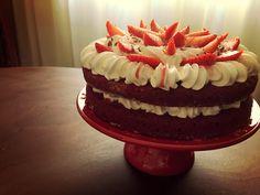 Red Velvet, Strawberries and cream.