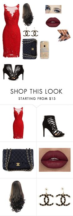 """""""Date Night"""" by gglovesu ❤ liked on Polyvore featuring ML Monique Lhuillier, Chanel and Agent 18"""