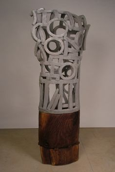 "Brandon Reese, ""Paul"", ceramic, wood, Faculty // Oklahoma State University Department of Art"