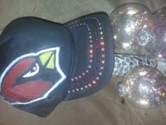 az cardinals snapback airbrushed and accented with by ASideofSassy, $32.00