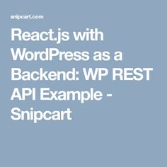 Combining WordPress and React is a powerful way to build web applications. Read this intro to the WP REST API and step-by-step tutorial for a neat React app with WordPress as a backend.