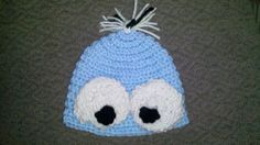 Baby Beanie  Peek a Boo/Cookie Monster   Made to by kylieskrochet, $9.99