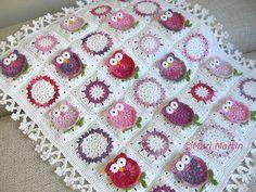 Owl Blanket Crochet Pattern Fantasy Newborn Baby door MariMartin: