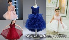 Stylish Birthday Frocks for Baby Girl, Kids Party Wear Dresses Online Shopping Fancy Baby Girl Frocks Princess Wedding Outfits