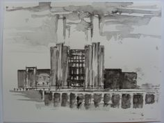 FRANCIS BACON, BATTERSEA POWER STATION, LONDON WATERCOLOUR BY ANDY SHAW