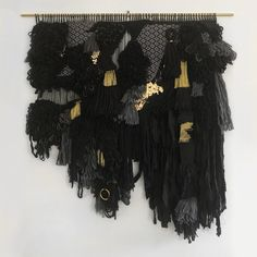 Black and Gold Tapestries, Bespoke, Weaving, Wreaths, Gold, Inspiration, Black, Home Decor, Hanging Tapestry