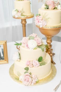 Multiple wedding cakes with gold cake stand Multiple Wedding Cakes, Summer Wedding, Wedding Reception, Gold Cake Stand, Ashley S, Mens Attire, Walking Down The Aisle, Wedding Story