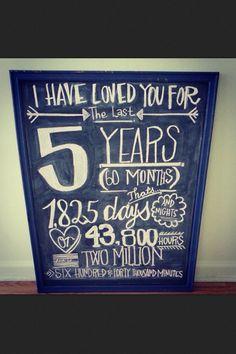 Anniversary idea!
