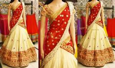 Golden Beige Half Saree