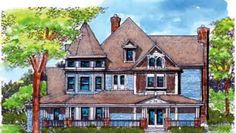 House Plan 57563 | Country Victorian Plan with 4898 Sq. Ft., 5 Bedrooms, 7 Bathrooms, 2 Car Garage at family home plans