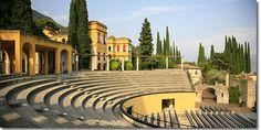 The amphitheater at Il Vittoriale degli Italiani, Gardone Riviera, Lago di Garda