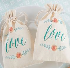 Love stylish favor bags
