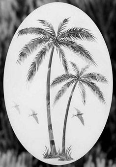 - Everyone has seen these frosted window decals on a front door or sliding door. We've literally sold thousands and thousands of these palm tree decals. - The palm tree sticker clings to any smooth gl