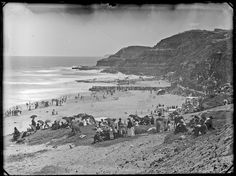 [Newcastle South Beach, Newcastle, NSW, 1887/9] by Cultural Collections, University of Newcastle, via Flickr