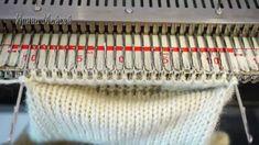 Making a Patch pocket накладной карман на вязальной машине.