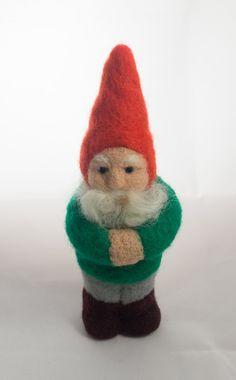 Needle felted gnome