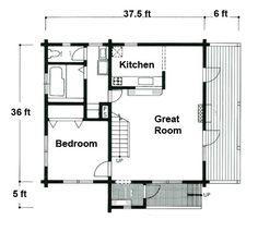 Small Log Cabin Floor Plans   ... log siding tongue and groove and house logs log cabin floorplans
