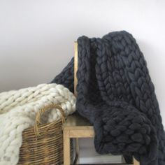 Our super soft chunky knit throw blankets are an everyday oasis of luxury made right here in #Melbourne using Australian Merino, by me just for you  'Vanilla Arrows' & 'The Melbourne'  130cm x 150 cm @ $775aud, gift wrapped in a handy storage box
