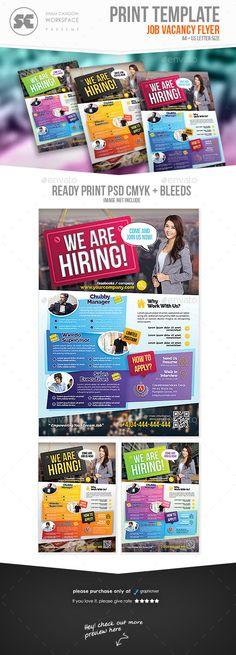 Job Vacancy Flyer Pinterest Flyer Template Template And Hiring