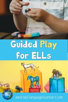 Learn how to use guided play activities to help ELLs increase their vocabulary and creativity. Students will have fun and learn at the same time. Learning Goals, Student Learning, Kids Learning, Literacy Skills, Early Literacy, Teaching English, Learn English, New Vocabulary Words, English Language Learners