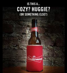 Happy Monday Beer Lovers! We are getting ready for some football action tonight and are trying to settle this debate once and for all.... We say Koozie... not Cozy or Huggie! What about you?