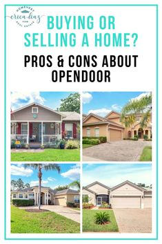 Have you considered using Opendoor to buy or sell a home? It is a quick and convenient process. But make sure you double check with a real estate agent before committing with Opendoor, because you might be losing a huge amount of money. We have the pros a Real Estate News, Selling Real Estate, Real Estate Investing, Home Selling Tips, Selling Your House, Moving To Another State, Realtor License, Florida Living, Central Florida