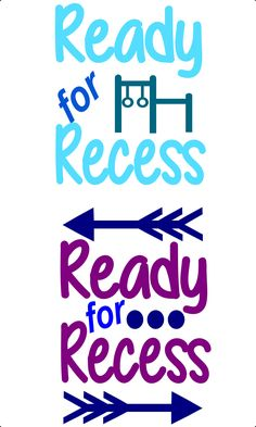 Commercial Use Svg Cut File-Ready for Recess - DXF-PDF-Png-SVG- Silhouette-Cricut- by SparkleVinylLAZYI on Etsy
