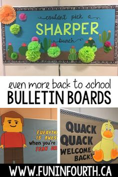 Even More Back to School Bulletin Boards