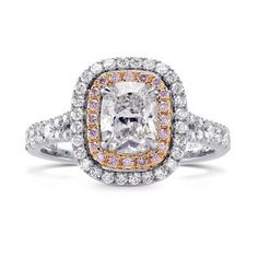 CLASSIC. ELEGANT. UNIQUE. #engagementrings #Diamonds We #LOVE diamonds, and we Love #Pinkdiamonds! Would you be happy to get a ring like that? COME and try one!