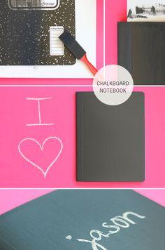 DIY Chalkboard Notebook