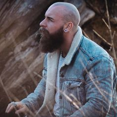 "kinky-beards: ""🔘The Kinkyest choice of Bearded men "" Bald Men With Beards, Bald With Beard, Bald Man, Great Beards, Long Beards, Awesome Beards, Beard Styles For Men, Hair And Beard Styles, Shaved Head With Beard"