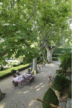 40 Fascinating Side Yard And Backyard Gravel Garden Design Ideas That Looks Cool - Garden & Outdoor - Diy Playground, Playground Flooring, Diy Garden, Dream Garden, Garden Beds, Outdoor Rooms, Outdoor Gardens, Outdoor Dining, Outdoor Life