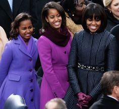 The Obama Ladies at President Barack Obama's 2nd Inauguration on Monday January 21, 2013.