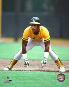 Rickey Henderson 1982 Action Photo Print x Best Baseball Player, Pro Baseball, Baseball Quotes, Better Baseball, Baseball Stuff, Rickey Henderson, Sports Figures, Oakland Athletics, Major League