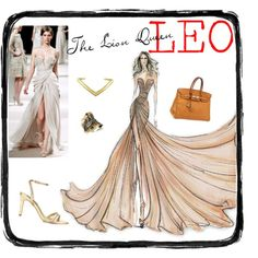 LEO The Lion Queen by redcarpetlook on Polyvore featuring House of Harlow 1960 and Elie Saab