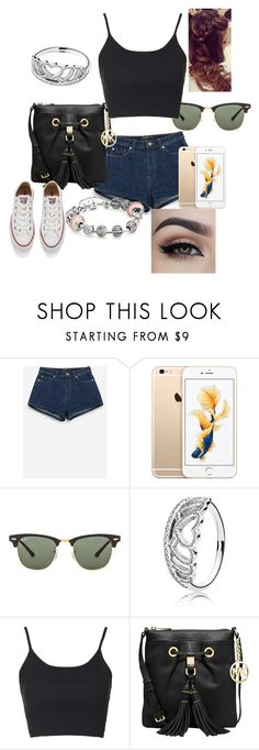 """Untitled #14"" by ermiraadili on Polyvore featuring beauty, Zara, Ray-Ban, Pandora, Topshop, Michael Kors and Converse"