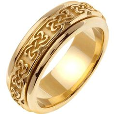 14K Gold Celtic Dara Knot Men's Wedding Band (7mm)