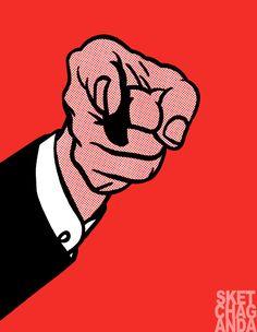 Lichtenstein's Hey You gif by Sketchaganda Roy Lichtenstein  Pop art