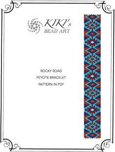 """Pattern, peyote bracelet - geometric """"Rocky road"""" peyote bracelet pattern in PDF - instant download"""