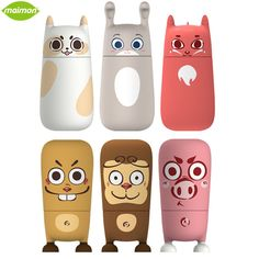 1 Piece 310ml Cool Man Cute Animals Water Cup Portable Eco-friendly Glass Leak Proof Kid Cold Hot Water Drinking Copo