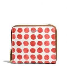 The Bleecker Medium Continental Zip Wallet In Painted Dot Coated Canvas from Coach