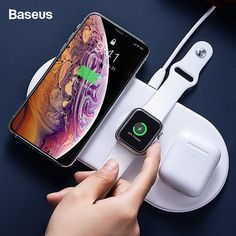 Tenrry Wireless Charging Dock Angel Wing Charger Holder Stand 10W Fast for Mobile Phone