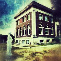 The old Freeport Library - @frankyboy1- #webstagram