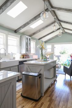 opened ceilings and skylight