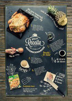 Knorr: envio de receita pelo Twitter, que pode voltar como cartaz | Web Design, Food Graphic Design, Food Menu Design, Cafe Design, Carta Restaurant, Restaurant Menu Design, Seafood Market, Cafe Menu, Menu Template