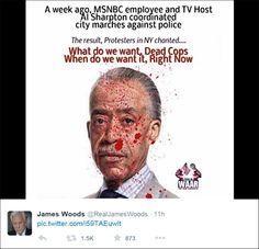 James Woods posts bloody picture of Al Sharpton on Twitter.