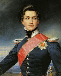 Joseph Karl Stieler (1781-1858) - Otto Friedrich Ludwig (1815—1867), Otto I king of Greece, сын Ludwig I.