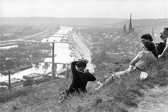 Henri Cartier-Bresson FRANCE. Haute-Normandie. Seine-Maritime. Rouen. The Seine river. 1955.